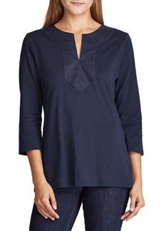 Lauren Ralph Lauren Three-Quarter Sleeve Jersey Top