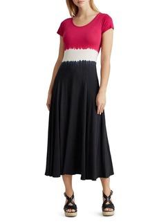 Lauren Ralph Lauren Tie-Dye Midi Dress