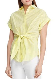 Lauren Ralph Lauren Tie-Front Gingham Shirt - 100% Exclusive