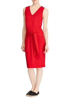 Lauren Ralph Lauren Tie-Front Sleeveless Knee-Length Dress