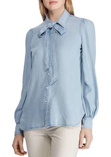 Lauren Ralph Lauren Tie-Neck Chambray Shirt