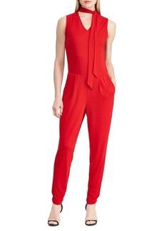 Lauren Ralph Lauren Tie-Neck Jersey Jumpsuit
