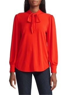 Lauren Ralph Lauren Tie-Neck Jersey Top