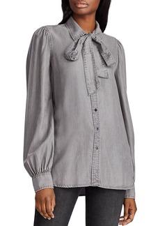 Lauren Ralph Lauren Tie-Neck Shirt