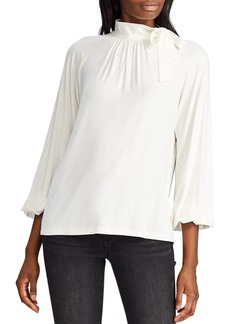 Lauren Ralph Lauren Tie-Neck Top