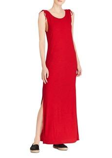 Lauren Ralph Lauren Tie-Shoulder Maxi Dress