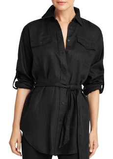 Lauren Ralph Lauren Tie-Waist Button-Down Shirt