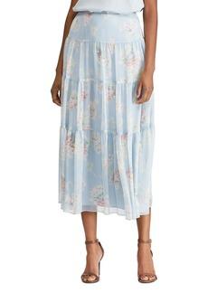 Lauren Ralph Lauren Tiered Floral Peasant Skirt