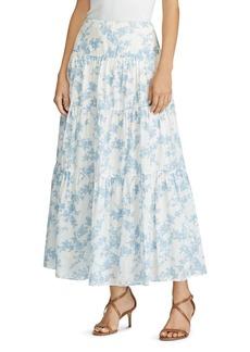 Lauren Ralph Lauren Tiered Floral-Print Maxi Skirt
