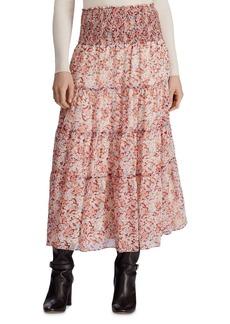 Lauren Ralph Lauren Tiered Floral-Print Peasant Skirt