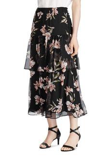 Lauren Ralph Lauren Tiered Floral-Print Skirt