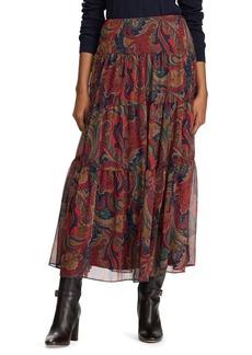 Lauren Ralph Lauren Tiered Georgette Peasant Skirt