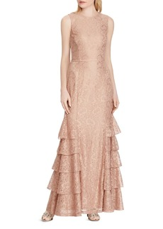Lauren Ralph Lauren Tiered Lace Gown