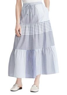 Lauren Ralph Lauren Tiered Mixed-Stripe Skirt