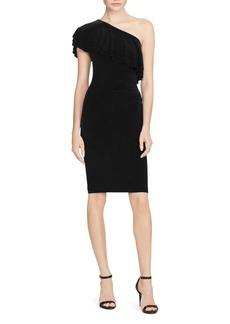 Lauren Ralph Lauren Tiered One-Shoulder Dress