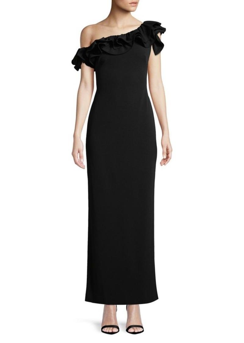 Ralph Lauren Lauren Ralph Lauren Tiered Ruffle One-Shoulder Gown ...