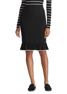 Lauren Ralph Lauren Tipped Ruffle Skirt