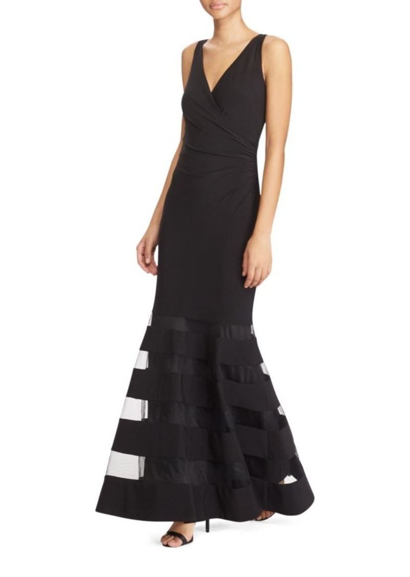 Ralph Lauren Lauren Ralph Lauren Sheer Panelled Tulle Gown