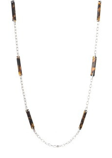 Lauren Ralph Lauren Tortoise & Metal Necklace, 38""