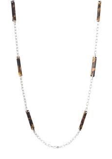 """Lauren Ralph Lauren Tortoise & Metal Necklace, 38"""""""