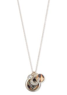 """Lauren Ralph Lauren Tortoise Crest Pendant Necklace, 22"""""""