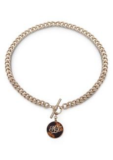 """Lauren Ralph Lauren Tortoise Logo Pendant Necklace, 18"""""""