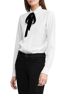 Lauren Ralph Lauren Triple-Georgette Top