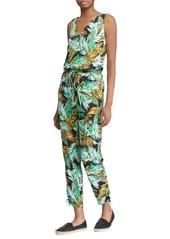 Lauren Ralph Lauren Tropical Self-Tie Crepe Jumpsuit