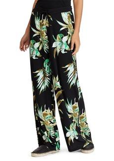 Lauren Ralph Lauren Tropical Wide-Leg Pants