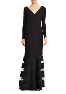 Lauren Ralph Lauren Tulle Inset Gown