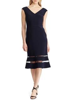 Lauren Ralph Lauren Tulle-Trimmed Midi Fit-&-Flare Dress
