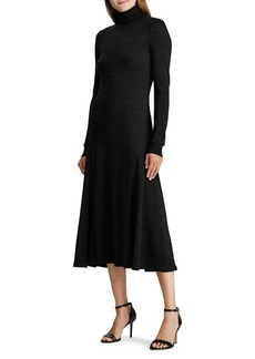 Lauren Ralph Lauren Turtleneck Cotton Maxi Dress