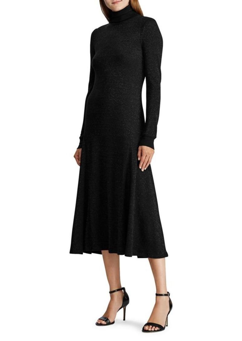 Lauren Ralph Lauren Turtleneck Cotton Maxi Dress