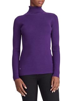 Lauren Ralph Lauren Turtleneck Cotton-Blend Sweater
