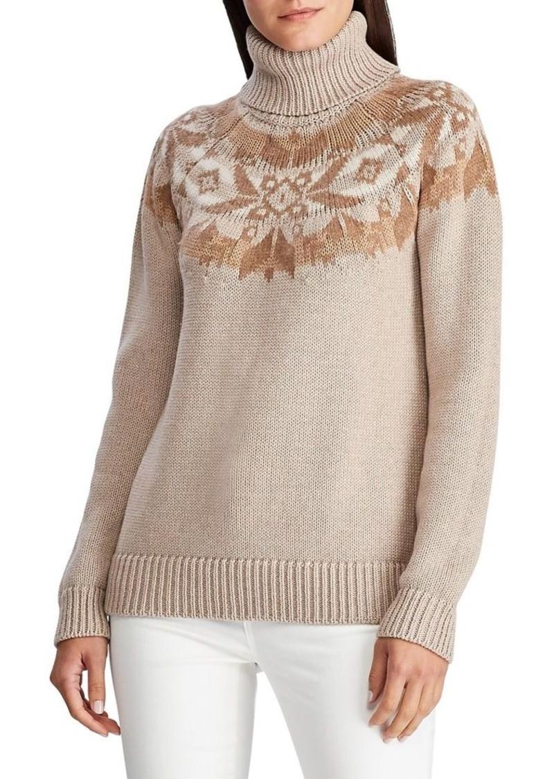 Lauren Ralph Lauren Turtleneck Wool & Cotton-Blend Sweater