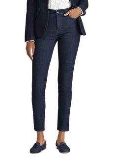 Lauren Ralph Lauren Tuxedo Stripe Skinny Jeans in Blue