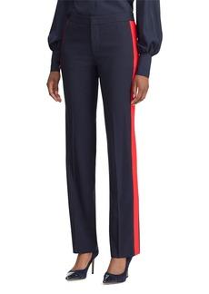 Lauren Ralph Lauren Tuxedo-Stripe Straight-Leg Pants
