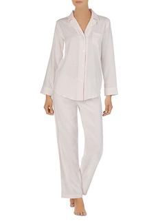 Lauren Ralph Lauren Twill Long-Sleeve Woven PJ Set