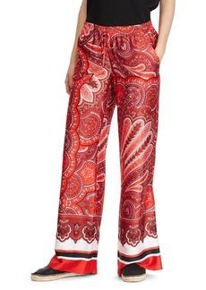Lauren Ralph Lauren Twill Paisley Wide-Leg Pant