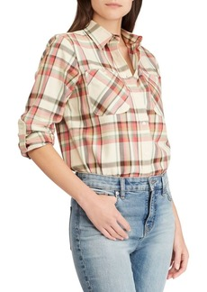 Lauren Ralph Lauren Twill Plaid Shirt