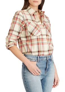 Lauren Ralph Lauren Twill Plaid Shirt
