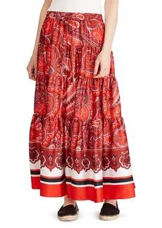 Lauren Ralph Lauren Twill Printed Maxi Skirt