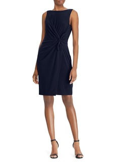 Lauren Ralph Lauren Twist-Front Sheath Dress