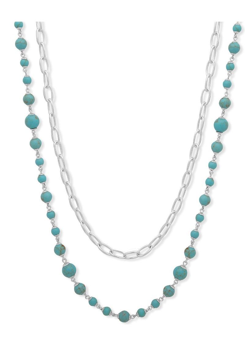 """Lauren Ralph Lauren Two In One Strand Necklace, 26"""""""
