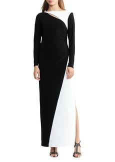 Lauren Ralph Lauren Two Tone Gown