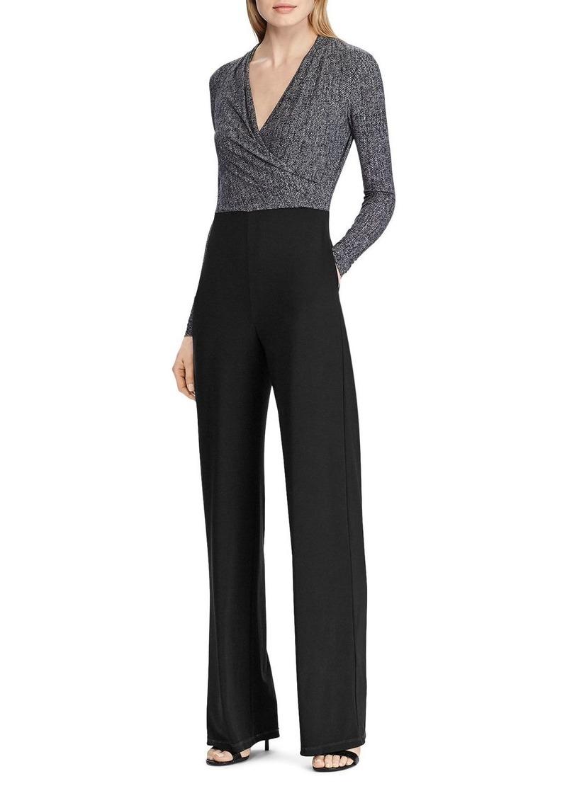 Lauren Ralph Lauren Two-Tone Straight-Leg Jumpsuit