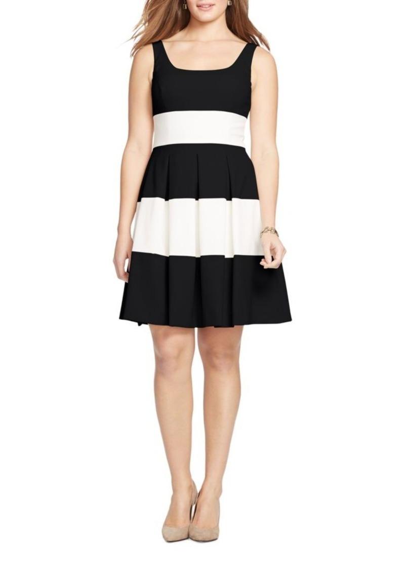 1572a229b7f Ralph Lauren Lauren Ralph Lauren Two-Tone Striped Dress