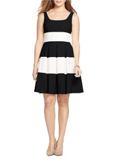 LAUREN RALPH LAUREN Two-Tone Striped Dress