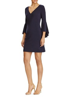Lauren Ralph Lauren V-Neck Bell-Sleeve Dress