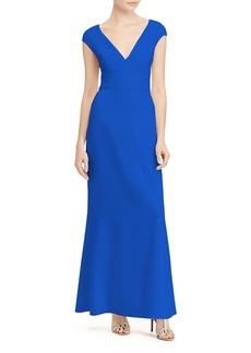 Lauren Ralph Lauren V-Neck Gown